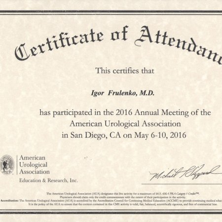 2016 - San Diego - Annual Meeting of the American Urological Association