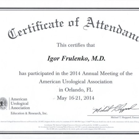 2014 - Orlando - Annual Meeting of the American Urological Association