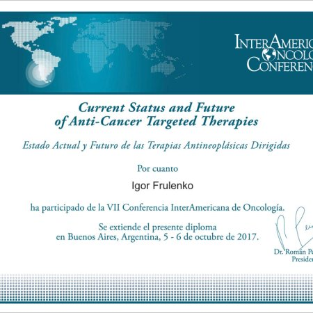 2017 - Buenos Aires - Inter American Oncology Conferences